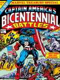 Captain America Bicentennial Battles Cover: Captain America Charging Print by Jack Kirby