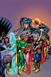 Avengers: Vision And The Scarlet Cover: Vision, Scarlet Witch, Thor, Iron Man and Dormammu Print by Gil Kane