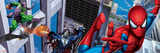Spider-Man, Morbius, and Green Goblin; Swinging and Flying in the City Prints