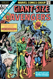 Giant-Size Avengers No.4 Cover: Vision, Scarlet Witch, Thor, Iron Man and Dormammu Prints by Don Heck