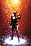 Invincible Iron Man No.14 Cover: Iron Man Plakater af Salvador Larroca