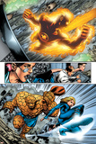 Marvel Adventures Fantastic Four No.5 Group: Human Torch, Invisible Woman and Thing Prints by Manuel Garcia