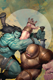 Incredible Hulk No.602 Cover: Skaar and Juggernaut Posters af Ariel Olivetti