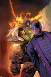 Fantastic Four: House Of M No.3 Cover: Dr. Doom, Magneto, Thing and Fearsome Four Poster by Scot Eaton