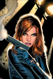 Greg Land - Black Widow No.2 Cover: Black Widow Charging Plakát