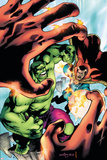 Marvel Adventures Hulk No.5 Cover: Hulk and Dr. Strange Print by Juan Santacruz