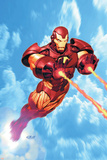 Iron Man: Iron Protocols No.1 Cover: Iron Man Fighting Posters by Ariel Olivetti