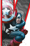 Avengers: Earths Mightiest Heroes No.2 Cover: Captain America Print by Scott Kolins