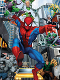 Spider-Man, Doctor Octopus, Green Goblin, Vulture, Black Cat, Electro, Lizard, Rhino and Sandman Poster