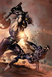 Dark Avengers No.9 Cover: Ares and Nick Fury Prints by Mike Deodato
