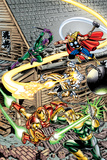 Avengers No.16 Cover: Thor, Iron Man, Firestar, Thunderball, Bulldozer, Avengers and Wrecking Crew Prints by Jerry Ordway