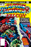 Captain America And The Falcon No.202 Cover: Captain America and Falcon Fighting and Flying Posters by Jack Kirby