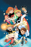 Power Pack: Day One No.1 Cover: Lightspeed, Mass Master, Zero-G and Energizer Print by  Gurihiru