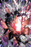 Young Avengers No.5 Cover: Kang and Iron Lad Fighting Posters by Jim Cheung