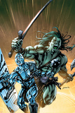 Skaar: Son Of Hulk No.8 Cover: Skaar and Silver Surfer Print by David Yardin