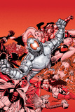 Avengers No.22 Cover: Ultron and Avengers Posters by George Perez