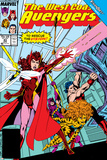 Avengers West Coast No.43 Cover: Scarlet Witch Photo by John Byrne