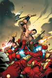 The Mighty Avengers No.4 Cover: Ares and Iron Man Posters by Frank Cho