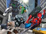 Spider-Man, Rhino, Green Goblin, and Doctor Octopus in the City Posters