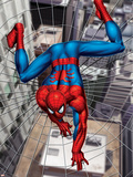 Spider-Man Above the City, Crawling on Web Plakater