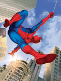 Spider-Man Swinging In the City Fotky