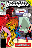 Avengers West Coast No.42 Cover: Scarlet Witch, Tigra, Wonder Man, Hawkeye and West Coast Avengers Prints by John Byrne