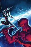 The Mighty Avengers No.16 Cover: Daredevil and Elektra Prints