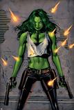 She-Hulk No.26 Cover: She-Hulk Fighting Poster af Greg Land