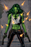 Greg Land - She-Hulk No.26 Cover: She-Hulk Fighting Fotografie