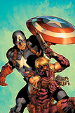 Ultimate Avengers No.2 Cover: Hawkeye and Captain America Prints by Carlos Pacheco