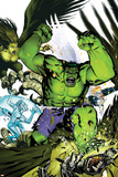 Hulk Team-Up No.1 Cover: Hulk, Iceman and Angel Láminas por Michael Golden