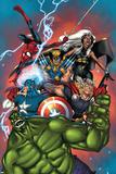 Marvel Adventures The Avengers No.36 Cover: Hulk Posters par Ig Guara