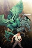 Incredible Hulk No.604 Cover: Banner, Bruce and Skaar Print by Ariel Olivetti