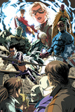 Dark Reign: Young Avengers No.1 Group: Hawkeye, Patriot, Speed, Hulkling, Wiccan, Stature & Vision Posters by Mark Brooks