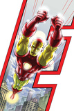 Avengers: Earths Mightiest Heroes No.3 Cover: Iron Man Poster by Scott Kolins
