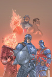The New Invaders No.1 Cover: Captain America, Union Jack, Blazing Skull and Invaders Posters by Scott Kolins