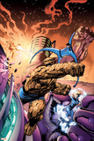 Fantastic Four No.572 Cover: Thing, Invisible Woman, Mr. Fantastic and Human Torch Prints by Alan Davis