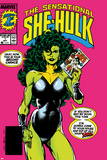 The Sensational She-Hulk No.1 Cover: She-Hulk Posters by John Byrne
