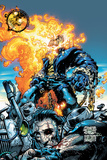 Ghost Rider V3 No.6 Cover: Ghost Rider and Gunmetal Gray Prints by Trent Kaniuga