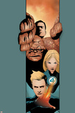 Ultimate Fantastic Four No.20 Cover: Thing, Mr. Fantastic, Invisible Woman and Human Torch Print