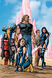 New Exiles No.1 Group: Sabretooth, Psylocke and Cat Crouching Posters by Tom Grummett
