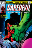 Daredevil No.163 Cover: Hulk and Daredevil Fighting Posters by Frank Miller