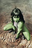 She-Hulk No.3 Cover: She-Hulk Crouching Posters by Adi Granov