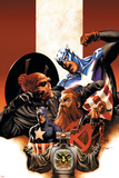Captain America No.42 Cover: Captain America, Red Skull, Zola and Arnim Print by Steve Epting