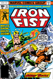 Iron Fist No.14 Cover: Iron Fist and Sabretooth Posters af John Byrne