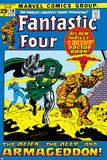 Fantastic Four No.116 Cover: Dr. Doom, Thing, Human Torch and Invisible Woman Crouching Posters by John Buscema