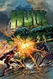 Incredible Hulk No.71 Cover: Hulk and Iron Man Plakater af Mike Deodato