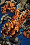 Ultimate Fantastic Four N19 Cover: Thing Smashing Print