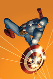 The Marvels Project No.6 Cover: Captain America Pósters por Steve Epting