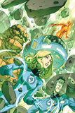 Fantastic Four: True Story No.1 Cover: Invisible Woman, Thing and Mr. Fantastic Posters by Niko Henrichon